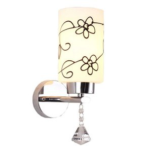 OOVOV 간단한 유리 크리스탈 복도 벽 램프 크리 에이 티브 패션 침실 벽 조명 거실 벽 Sconce