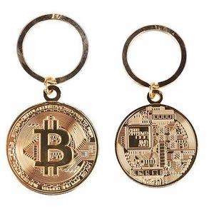 Nouveau Design À La Mode Or Couleur Alliage Bitcoin porte-clés Pour Femmes Homme belle voiture Sac porte-clés Bijoux Cadeau