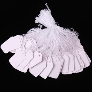 0.5 * 1 inch 100 قطعة / الوحدة فارغة الأبيض الأسعار العلامات علامات العلامات مجوهرات الملابس تسميات أسعار المنتجات عرض الكلمات مع شنقا سلسلة 1.2 * 2.5 سنتيمتر