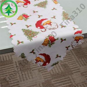 Creativo Chirstmas Table Cloth Navidad mantel comedor herramienta de cocina cubierta de tabla Cena de Navidad decoraciones del partido ornamento 40 unids T1I951