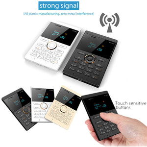 iFcane E1 quad band sbloccato carta ultrasottile del telefono 64 MB di ROM BT2.0 MP3 FM Alarm Clock 0.96 ''