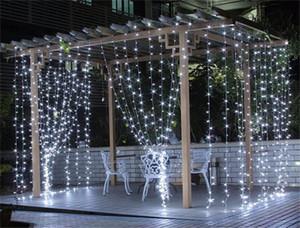 LED Perde Işık 3 M * 3 M 300 LED Ampuller Christams Xmas Işık Yayan Diyot AB Tak Beyaz Çok renkli Twinkle LED Lamba