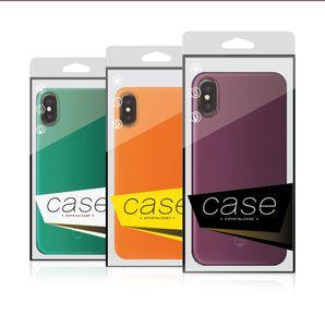 Pour iPhone 9 9 Plus Phone Case Emballage plastique PVC Coque claire Box pour Samsung Note 9 s9 plus Retour Paquet Shell Coquille