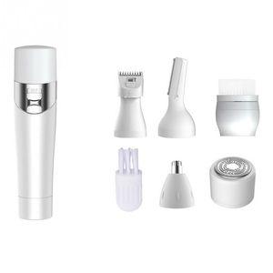 5 1 Taşınabilir Elektrikli Epilatör Kadın Epilasyon Bikini Tıraş Makinesi Kadın Tıraş Razor Giyotin Yüz Temizleme Fırçası