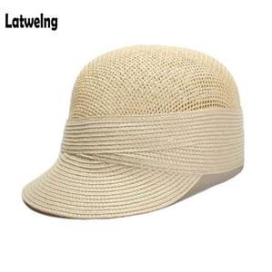 Paja de papel malla de verano Net Gorras Gorras de béisbol para hombres Mujeres de alta calidad Snapback visera Sun Sombreros Casquette Hat al por mayor