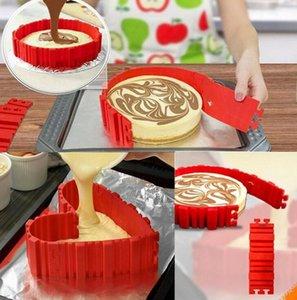 4pcs / set gâteau au four Serpent de cuisson Moules gâteau moule bricolage gâteau en silicone moule carré ronde forme moule outils Magic nt Bakeware