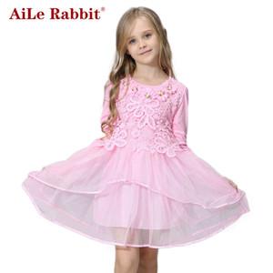 AiLe Conejo Vestido de Niña de las Flores Princesa tutu regalo de fiesta velo de novia vestido de niña de flores los niños se visten de rosa verde macarons