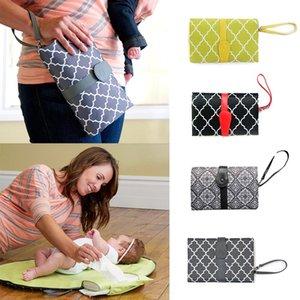 아기 기저귀 기저귀 핸드백 접이식 엄마 가방 변경 변경 클러치 매트 접이식 패드 핸드백 지갑 스타일
