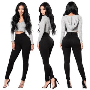 New Black Jeans Stretch Tight Jeans Women's Denim Pant For Girls Female High Waist Trousers boyfriend for women