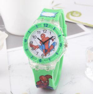 Nuovo LED in silicone 3D orologi da polso Spiderman Batman Kid Orologio da polso Colorful Band Charm Led back Light Student Clock