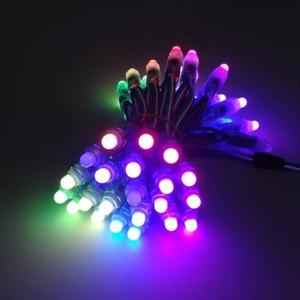 1000pcs fullcolor IC RGB LED de luz de 12 mm WS2811 píxeles módulo string IP68 resistente al agua de entrada DC12V digital a todo color del LED Pixel Light