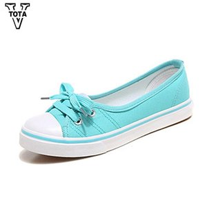 Women Shoes Spring Shoes Woman Slip On Lace-Up Fabric Autumn Female Casual Shoes Zapatos Mujer Woman Solid