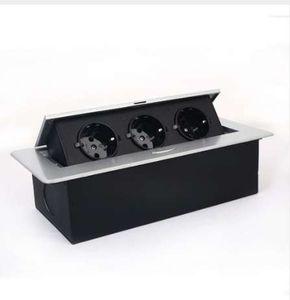 Европейские вилки 110V ~ 220V 12A German Socket Многофункциональный стол для конференций Настольные выходы Три вставки Настольная розетка