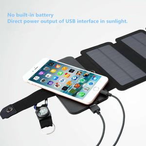 Солнечное зарядное устройство 10 Вт с солнечным зарядным устройством Прямая зарядка Аккумуляторная батарея Сложенные солнечные батареи Power Bank Съемный чехол для солнечной батареи