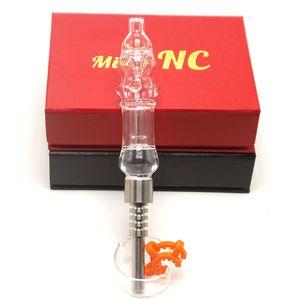DHL Новых бесплатных CSYC Стро Micro NC комплект с 510 Titanium Nail Glass Oil Rig воды Бонг труба с красным Черной подарочной упаковкой
