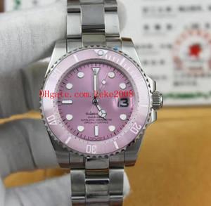 Luxo de Alta qualidade Moda Assista SUB 116610 40mm 36mm Rosa Dial Aço Inoxidável Bezel CerâmicaMechanical Automatic Ladies Relógios das Mulheres