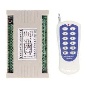 Trasmettitore universale 12 V 12 V 10 A Relay 12CH 12 CH Trasmettitore telecomando RF + Modulo ricevitore, 315/433 MHz