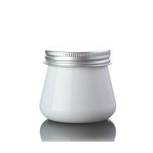 Tarro poner crema cosmético de empaquetado cosmético del color blanco 80ml del tarro plástico adorable 80g con el casquillo de aluminio QW7005