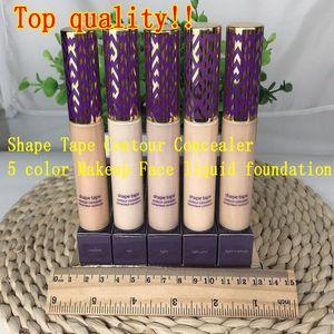 Top quality!! Shape Tape contour Concealer 5 colors Fair Light Light medium Medium Light sand 10ml liquid foundation makeup palette DHL