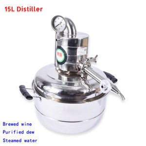 15L Alcool Whisky Distillatore di Acqua Moonshine In Acciaio Inox Vino Acqua Rendere Kit Bar Domestico Vacuum Distillation Boiler