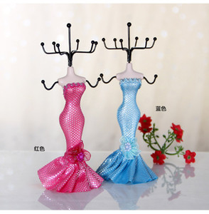 Creative Resin Mannequ jewelry display stand necklace earrings rings jewelry storage rack 18cm mini model shape jewelries display props