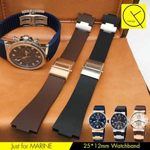 Uhrenarmband-Armband-Silikon-Uhrenarmband für MARINE wasserdichtes Gummiuhr-Bügel-Sport 25 * 12mm Männer-Uhren