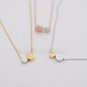 Fashion Circle Pendant Combination Big Mixed Laces Small Circle Necklaces Color Women And Pendant For Gesture Praise Necklaces Others C Fnwx