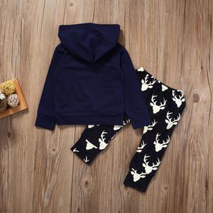 Toddler Baby Boys Vêtements Set Long Hooded Top Hoody Pantalon Ensemble de vêtements Casual Arrow Vêtements New Baby Boy