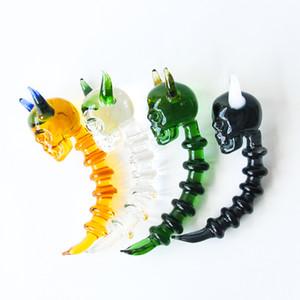 Новый 3,9-дюймовый Мини Череп Коррида стекла Dabble Wax Dab инструмент с красочным толстым Pyrex Glass Dabber Инструменты для курения