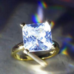 1 Shape New Ring Wedding Square PCS Intaid Donne Timbro d'oro per Princess Pave Stone Taglio Colore Gioielli Zircon Anelli VQJCT