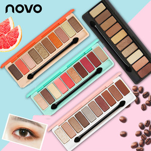 Novo 10 COLORI Make up Shimmer 3D Colorful Powder Wet Glitter Eye Shadow Earth Colour Palette Eyeshadow Palette Nude