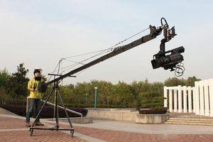 15.8ft Pan Tilt Head 5 kilo Camera Crane Jib Arm Jibs Video 7 pulgadas HDMI Monitor Kit