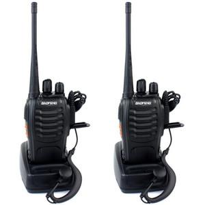 Hot BAOFENG BF-888S Walkie talkie UHF Radio bidirezionale baofeng 888s UHF 400-470MHz 16CH Ricetrasmettitore portatile con auricolare