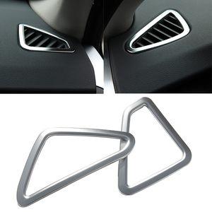 2 unids Car Styling ABS Chrome aire acondicionado cubierta de ventilación etiqueta auto partes accesorios de calidad superior para BMW X5 F15 2014-2015