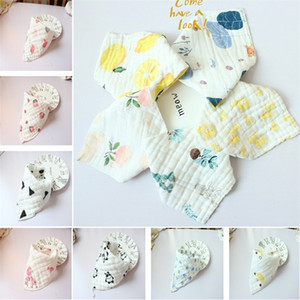 31 style high quality baby bibs lunch Bibs  Towel Saliva Baby Kids Infants 8 layers of gauze Burp Cloths T5I058