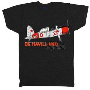 Flugzeug De Havilland Chipmunk Flugzeug Retro Klassische Film Film T-shirt Neue T Shirts Lustige Tops T-shirt Newfree Verschiffen