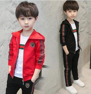 Детский костюм девушки комплект одежды дети пальто футболка брюки 3ps комплект новый осенний подросток спортивные костюмы школьная форма
