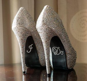 2018 Серебряный Кристалл свадебные наклейки обуви DIY свадебные сандалии нижней наклейки свадебные аксессуары я делаю или мне тоже наклейки обуви ясно горный хрусталь