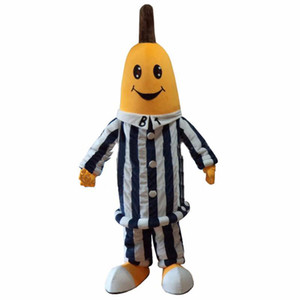 2018 Hochwertige heiße Dexule Bananen In Pyjamas Maskottchen Kostüme, Banana Maskottchen Kostüm