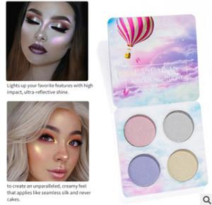2018 new4colour HANDAIYAN Chaleleon Highlighter Palette Face Contour Makeup Destacando Bronzer Glow Aurora Shimmer Eyeshadow Cosmetic Kit