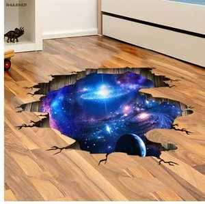[SHIJUEHEZI] 3D Cosmic Galaxy Planètes Stickers Muraux Espace Mural Affiche pour Enfants Chambre Maternelle Plafond Décoration