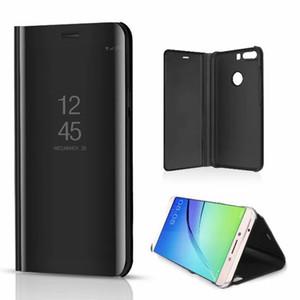 Luxo espelho limpar view case para xiaomi redmi 6 6a 6 pro s2 a2 lite nota 5 nota 5a tampa do telefone chapeamento base vertical suporte