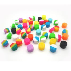 all'ingrosso 2MLReusable rotonda antiaderente Jar silicone Contenitore per E-cig Cera Bho olio butano vaporizzatore Silicon Vasi Dab Cera Contenitore