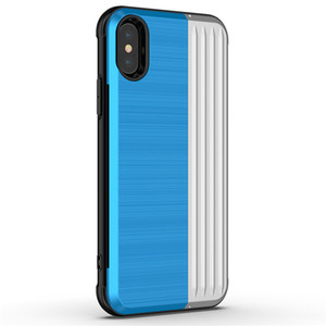 Чехол для телефона Hybrid Armor для iPhone X Матовый держатель для карт памяти Задняя крышка с подставкой для iPhone 7 8 Plus D