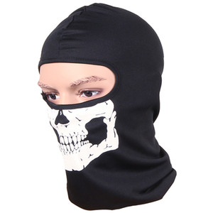 Cycling Face Masks Balaclava Skull Outdoor Sports Bike Bicycle Skateboard Motorcycle Ghost Ski Riding Hat Protect Full Face Mask