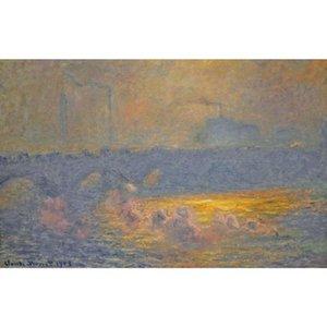 Знаменитая картина Клода Моне Ватерлоо мост произведения искусства импрессионист искусства ручной работы подарок