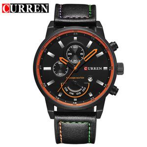 2018 CURREN Men's Fashion Casual Sport Quartz Watch Mens Watches Top Brand Luxury Leather Wristwatch Male date clock