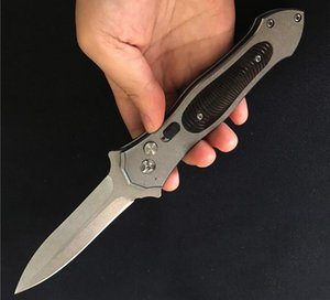 The Petrified Fish Bearing Pocket Knife Spring Broach Auto knife Stone wash Knife AUS-8 Cold Steel Blade Camping Tactical Knives