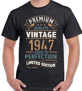 Урожай год 1947 - Limited Edition 71-й день рождения мужские смешные футболки 71-летний Новый футболки смешные топы Tee новая бесплатная доставка