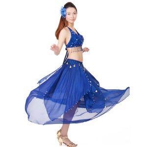 13 цвет танец живота костюм индийский танец платье женщины Болливуд танцевальные костюмы для исполнения танцевальная одежда